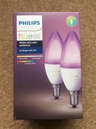 philips hue white and colour ambience e14 candle pack in