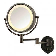 halo swinging lighted vanity mirror bathroom