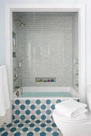 Tiling A Bathtub Alcove by And Blue Hex Tiled Bathtub