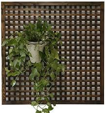 unbekannt massivholzgitter wand blumenständer pflanze reben