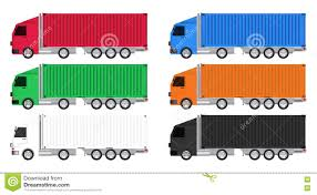 100 Motor Truck Cargo Colorful Container Vector Stock Vector
