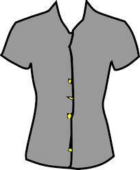 Womens Dress Shirt Clipart 1