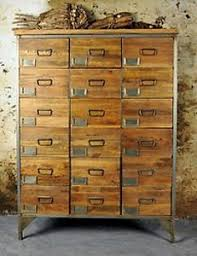 Image Is Loading Vintage Style Wooden Rustic Industrial Eighteen Drawer Apothecary