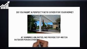 Covered Patios Salt Lake City | Awnings Unlimited - YouTube Commercial Retractable Awnings For Your Business And Patio Covers July 2012 Awning Over Entrance Keep The Rain Out Long Beach Island Nj Residential Custom Harbor Springs Mi Pergola Design Magnificent Decks Unlimited Pictures Drop Curtains Boree Canvas Outdoor Living Room Nw Amazoncom Goplus Manual 8265 Deck