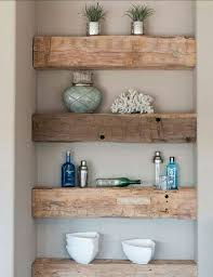 Rustic Living Room Decor With Floating Shelves Ideas 86