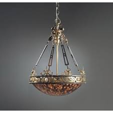 Maitland Smith Buffet Lamps by Smith Finely Cast Brass Iron And Penshell Empire Chandelier