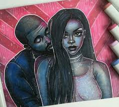 Art Aubrih Rihanna Drake Work Drawingpictwitter M5t5MA7jiZ