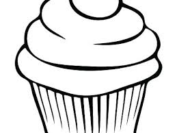 Cute Cupcake Coloring Pages Of Cupcakes Colouring Book Cup Cake Page