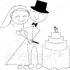 Cutting Wedding Cake Clipart