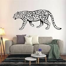 wandtattoo wandaufkleber leopard wildkatze dschungel flur