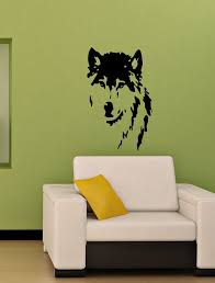 vinyl decal wolf dog home wall art decor removable stylish sticker