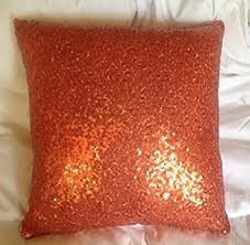 Amazon ShinyBeauty Sequin Pillow Case 12x18 Inch Orange