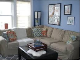 blue gray living room modern house