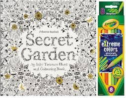 Secret Garden Coloring Book Crayola Pencils I Curly Dani Inc