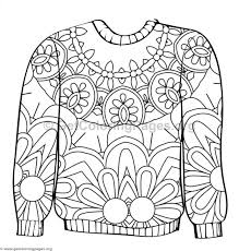 Ugly Sweater Coloring Pages 9