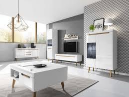 furniture24 kommode sideboard nordi in skandinavische stil weiß weiß hochglanz