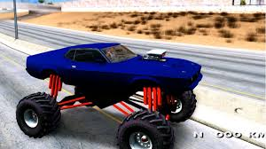 1971 Ford Mustang Monster Truck - GTA MOD - YouTube Radio Shack Zip Zaps Micor Rc Cars Spiderman Monster Truck Mustang Ford King Cobra 1978 Gta San Andreas Crazy 2 Mustang Monster Truck Wning Mach 1 Mp Races In Bigfoot No1 Original Rtr 110 2wd By Traxxas Shelby Gt500 Monster Truck For Spin Tires Maverick Ion Mt Wild Stang Trucks Wiki Fandom Powered Wikia Shelby Mustang Summit 4wd Blue Tra560764blue Hpi Baja 5r 1970 Boss Asphalt