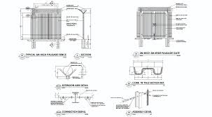 The Drawing Of Anti Climb Fence Installation Including Palisade Fencing Hi Tech