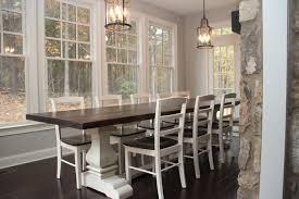 Josh Leg Pedestal Base Farm Table Farmhouse Dining Room
