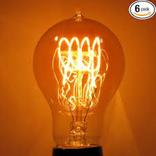 6 pack 60w a19 edison antique reproduction light bulb