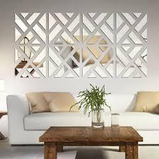 4 slice 3d wandaufkleber spiegel wandtattoo wohnzimmer kunst