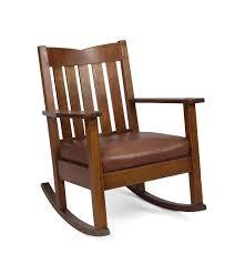 arts crafts oak v back rocking chair stickley brandt chair