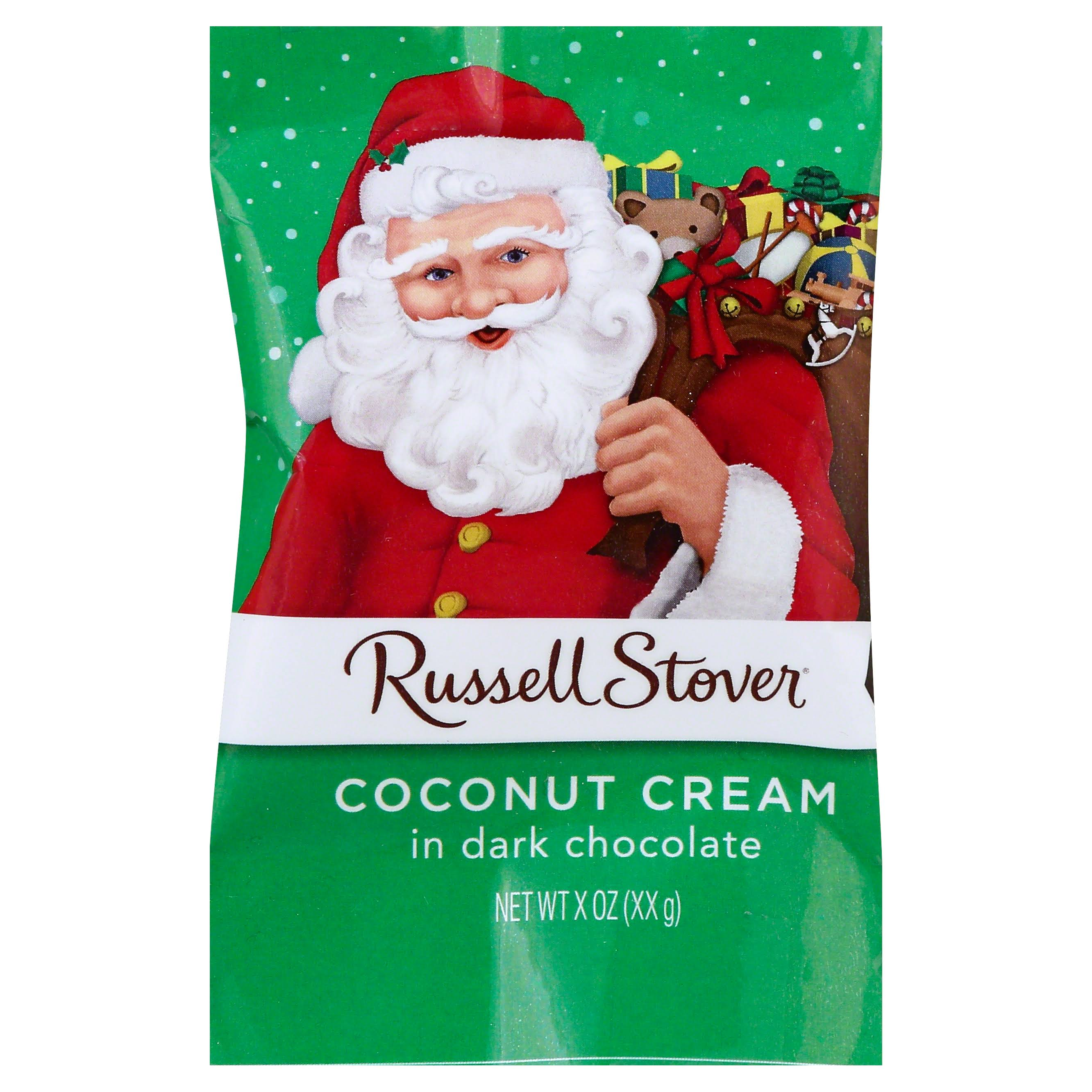 Russell Stover Coconut Cream, in Dark Chocolate