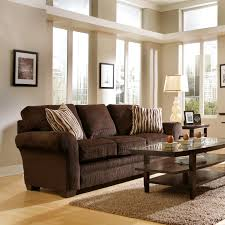 Dark Brown Couch Decorating Ideas by Furniture Pretty Dark Brown Sofa By Broyhill Furniture On Wooden