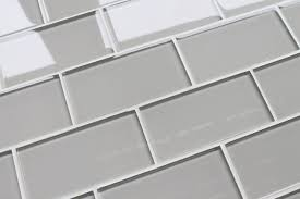 country cottage light taupe glass subway tile contemporary