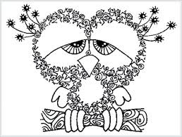 Fun Halloween Coloring Pages Printable For Native American Winter Owl Free Adult