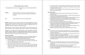Staff Outsourcing Agreement Template Services Contract Microsoft Word Templates Free