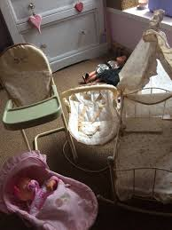 Mamas And Papas Dolls Crib, High Chair, Carrycot And Bouncer With Doll | In  Treorchy, Rhondda Cynon Taf | Gumtree Childrens Kids Girls Pink 3in1 Baby Doll Pretend Role Play Cradle Cot Bed Crib High Chair Push Pram Set Fityle Foldable Toddler Carrier Playset For Reborn Mellchan Dolls Accsories Olivia39s Little World Fniture Lifetime Toy Bundle Pepperonz Of 8 New Born Assorted 5 Mini Stroller Car Seat Bath Potty Swing Others Cute Badger Basket For Room Ideas American Girl Bitty Favorites Chaingtable Washer Dryerchaing Video Price In Kmart Plastic My Very Own Nursery Olivias And Sets Ana White The Aldi Wooden Toys Are Back Today The Range Is Better Than Ever Baby Crib Sink High Chair Playset