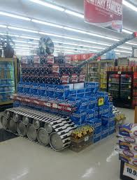 Kickass Beer Display Rolls Onto The Floor