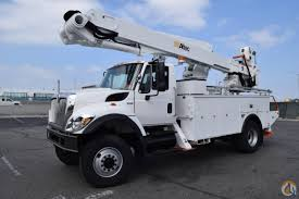 2010 International 7400 4x4 Altec TA55 60' Bucket Truck Bucket Truck ...