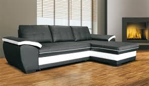 canapé noir et blanc canape d angle à droite convertible marc convertible noir blanc