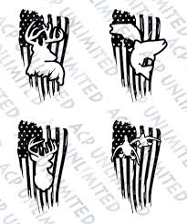 100 Hunting Decals For Trucks Distressed Flag Decal Sticker Merica Outdoorsmen Fishing