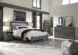 Furniture World Petal MS Baystorm Gray Queen Panel Bed w