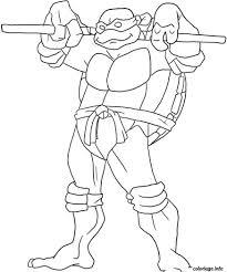 Coloriage Tortue Ninja Go