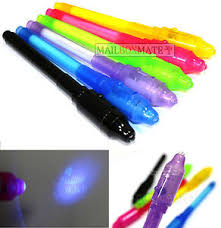 20 UV Pens Invisible Ink Marker Pen Security Secret & UV LED Light