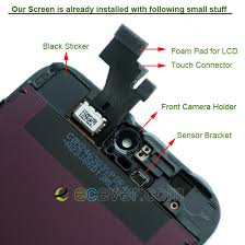 OEM iPhone 5 Front LCD Assembly with Digitizer Touch Screen Black