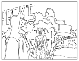 Coloring Page Inspired By Tim Burtons Movie Batman Returns A Scene With The