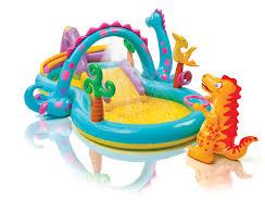 Intex Kidz Travel Bed by Intex Inflatable Kids Dinoland Play Center Slide Pool U0026 Games