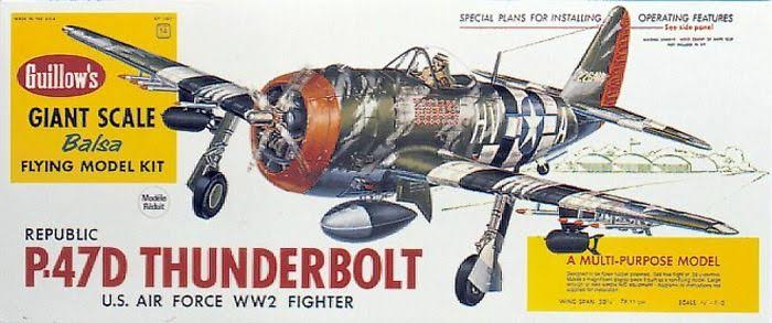 Guillows Flying Model Kit - Thunderbolt P-47D Balsa Aircraft