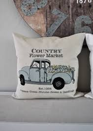 100 Seedling Truck SALE Country Flower Market Pillow Cover Truck Pillow Etsy