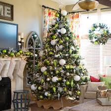 75 Pre Lit Christmas Tree by Glittery Pine Full Pre Lit Christmas Tree Walmart Com