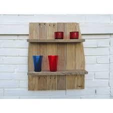 regal aus palettenholz wohndeko praktisches wandregal als deko küchenregal badregal upcycling nachhaltig