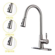 Pull Down Kitchen Faucets Brushed Nickel by Best Single Handle Kitchen Faucets In 2017 Stylish U0026 Convenient