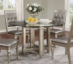 Ortanique Dining Room Chairs by Danette Traditional Metallic Wood Round Dining Table Kitchen
