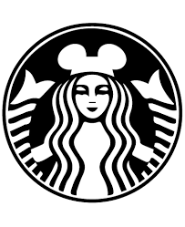 Starbucks Inspired Disney Ears Coffee Logo