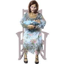 Animatronic Halloween Props Uk by Amazon Com Rocking Moldy Mommy Home U0026 Kitchen